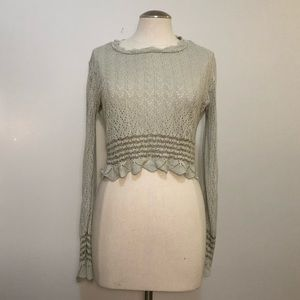 Boho knit crochet top